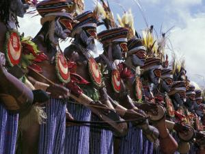 Highlands Warrior Marching Performance at Sing Sing Festival, Papua New Guinea by Keren Su