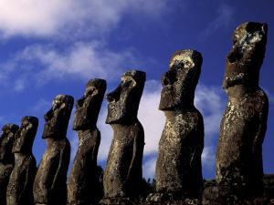 Huge Moai, Ahu Akiri, Easter Island, Chile by Keren Su