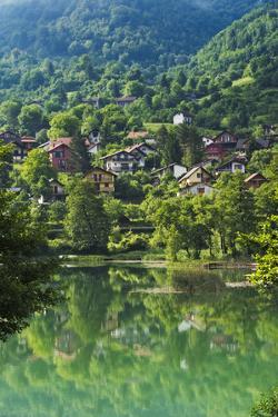 Landscape of Pliva River, Jajce, Bosnia and Herzegovina by Keren Su