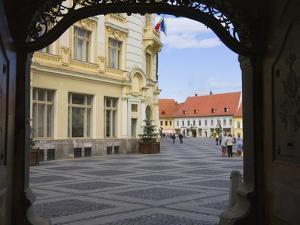 Main Square, Sibiu, Romania by Keren Su