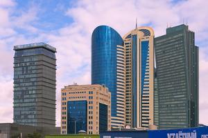 Modern high-rises. Astana, Kazakhstan. by Keren Su