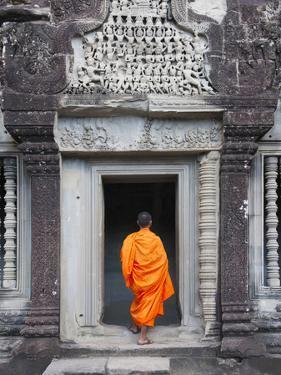 Monk at Angkor Wat, Cambodia by Keren Su
