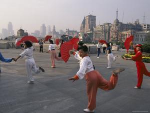 Morning Dancing on the Bund, Shanghai, China by Keren Su
