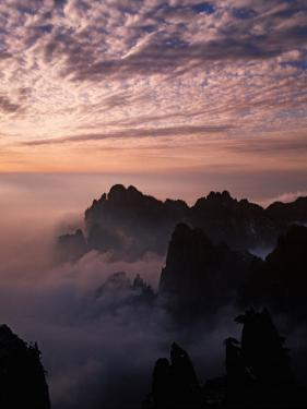 Morning Mist on Mt. Huangshan (Yellow Mountain), China by Keren Su