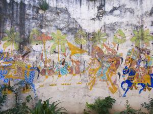 Mural in Castle Bijaipur, Rajasthan, India by Keren Su