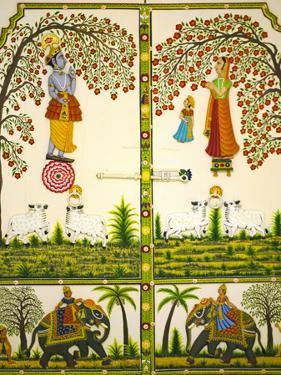 Mural Inside City Palace, Udaipur, Rajasthan, India by Keren Su