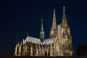 Night View of Cologne Cathedral by Keren Su