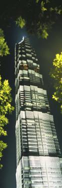 Night View of Jinmao Building, Shanghai, China by Keren Su