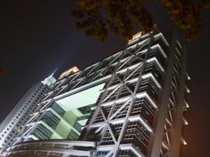 Night View of Shanghai Stock Exchange, China by Keren Su