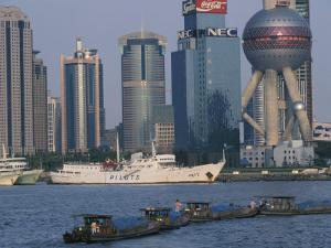 Oriental Pearl TV Tower and High Rises, Shanghai, China by Keren Su