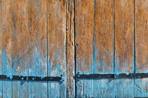 Painted wooden door, Lahij village on the southern slopes of Greater Caucasus, Azerbaijan by Keren Su