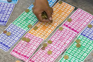 Playing Bingo, Baguio, Benguet Province, Philippines by Keren Su