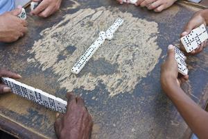 Playing Domino, Trinidad, Cuba by Keren Su