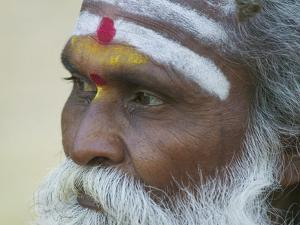 Portrait of a Holy Man, Varanasi, India by Keren Su