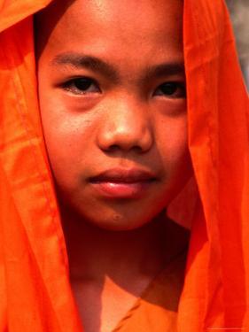 Portrait of a Young Monk, Xishuangbanna, China by Keren Su