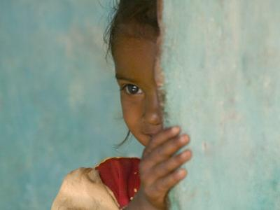 Portrait of Little Girl, Orissa, India by Keren Su