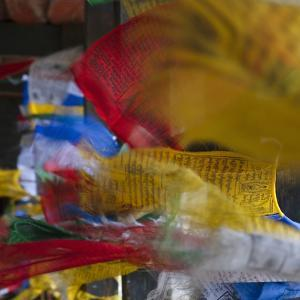 Praying Flags, Paro, Bhutan by Keren Su