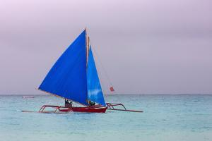 Sailing in the Ocean, Boracay Island, Aklan Province, Philippines by Keren Su