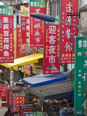 Shop Banners Along the Street, Zhenyuan, Guizhou, China by Keren Su