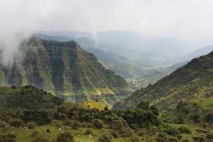 Simien Mountain in morning mist, Ethiopia by Keren Su