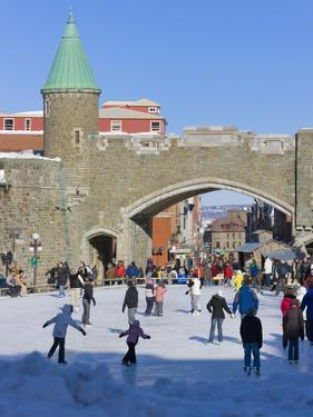 Skate Ring at the Entrance to the Old Town, Quebec City (UNESCO World Heritage Site), Canada by Keren Su