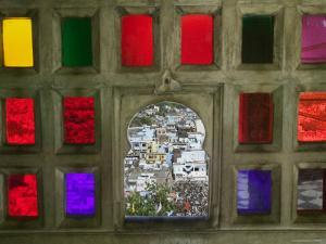 Stained Glass Window Panes in City Palace by Keren Su