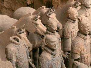 Terra Cotta Warriors at Emperor Qin Shihuangdi's Tomb, China by Keren Su