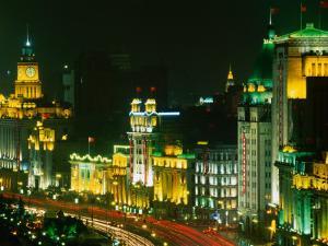 The Bund at Night, Shanghai, China by Keren Su