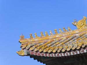 Traditional Decorative Roof Tiles in the Forbidden City by Keren Su