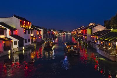 Traditional houses along the Grand Canal, Wuxi, Jiangsu Province, China