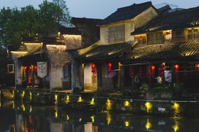 Traditional houses along the Grand Canal, Xinshi Ancient Town, Zhejiang Province, China