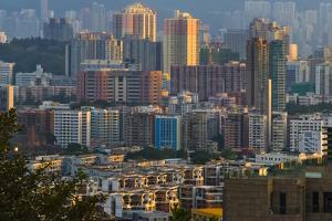 View of high-rise in downtown, Hong Kong, China by Keren Su
