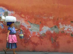 Woman Carrying Sack, Antigua, Guatemala by Keren Su