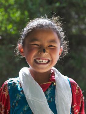 Young Tibetan Girl, Tibet, China by Keren Su