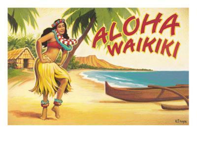 Aloha Waikiki by Kerne Erickson