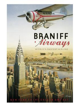 Braniff Airways, Manhattan, New York by Kerne Erickson