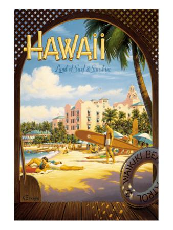 Hawaii, Land of Surf and Sunshine by Kerne Erickson