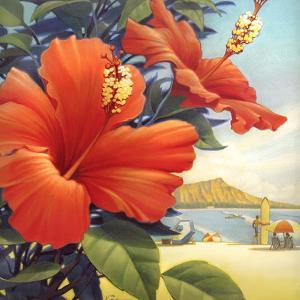 Hibiscus Beach Day by Kerne Erickson
