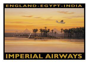 Imperial Airways, Egypt by Kerne Erickson