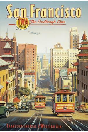 The Lindbergh Line, San Francisco, California by Kerne Erickson