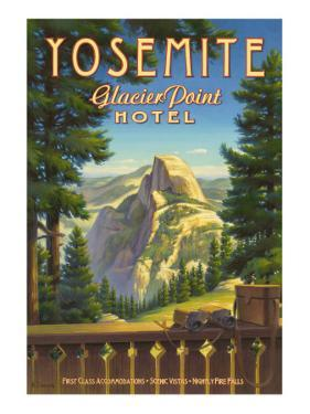 Yosemite, Glacier Point Hotel by Kerne Erickson