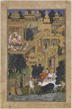 The Lord Krishna in the Golden City, Ca 1586 by Kesav Kalan