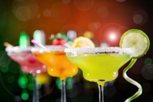 Fruit Cocktails On Black Background by Kesu01