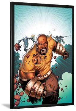 Thunderbolts No.168 Cover: Luke Cage Running by Kev Walker