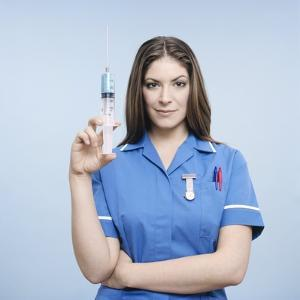 Nurse with Syringe by Kevin Curtis