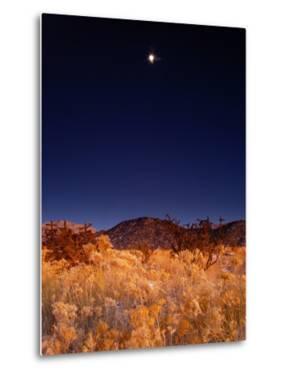 Sandia Mountains Desert Twilight Landscape Moon Rise, New Mexico by Kevin Lange
