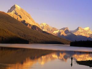 Fly-Fishing, Maligne Lake, Jasper National Park, Alberta, CA by Kevin Law