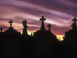 Cemetery at Sunset, New Orleans, Louisiana by Kevin Leigh