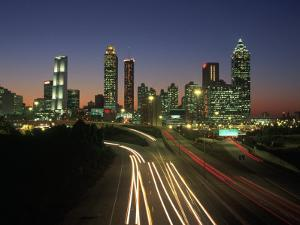 Night Skyline, Atlanta, Georgia by Kevin Leigh