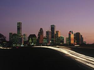 Night Skyline, Houston, Texas by Kevin Leigh